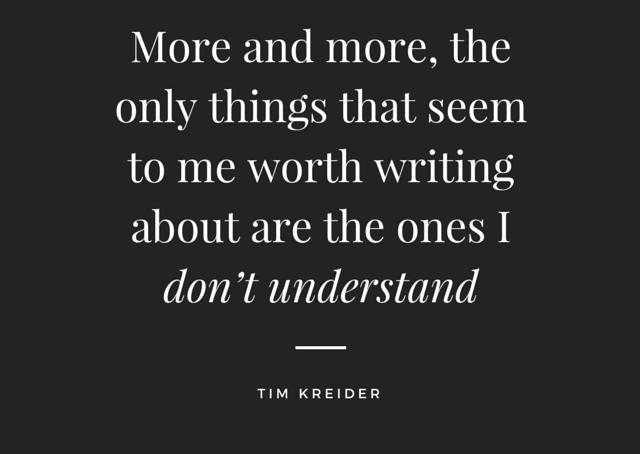 Solo escribo de lo que no sé